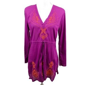 Athleta Embroidered Swim Coverup Tunic Dress S